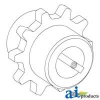 H159614 - Sprocket, Feeder House Shaft, Upper