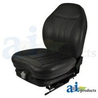 HIS361W - High Back Industrial Seat W/ Suspension, Slide Track, Blk