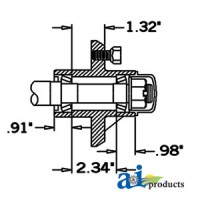 HS125044 - Hub & Spindle Assy.