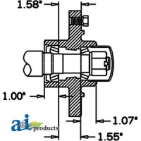 HS276066 - Hub & Spindle Assy.