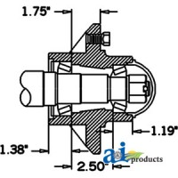 HS491066 - Hub & Spindle Assy.