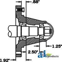 HS491088 - Hub & Spindle Assy.