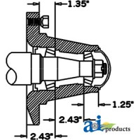HS579088 - Hub & Spindle Assy.