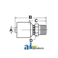 MB-04-05-W - (HW-MB) Straight Thread O-Ring Connector