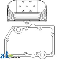 RE59298 - Cooler, Engine Oil, w/ Gaskets, 9 Plate