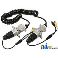 TCK523 - Cabcam Trailer Cable Kit, 7 Pin Coiled, Aluminum Connectors, 2 Camera Capability