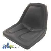 TM333BL - Michigan Style Seat, w/o Slide Track, BLK