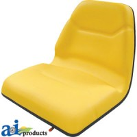 TMS111YL - Seat, Michigan Style, w/ Slide Track, Deluxe Cushion,