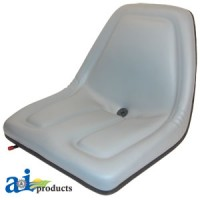 TMS444GR - Seat, Michigan Style, w/ Slide Track, GRY