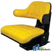 TY24763 - Complete Seat, Wrap Around Back W/ Arms, Ylw